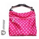PINKIE taška na kočárek růžová puntíkatá