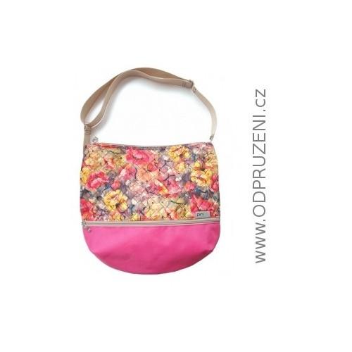 PINKIE Květinová prošívaná taška nejen ke kočárku