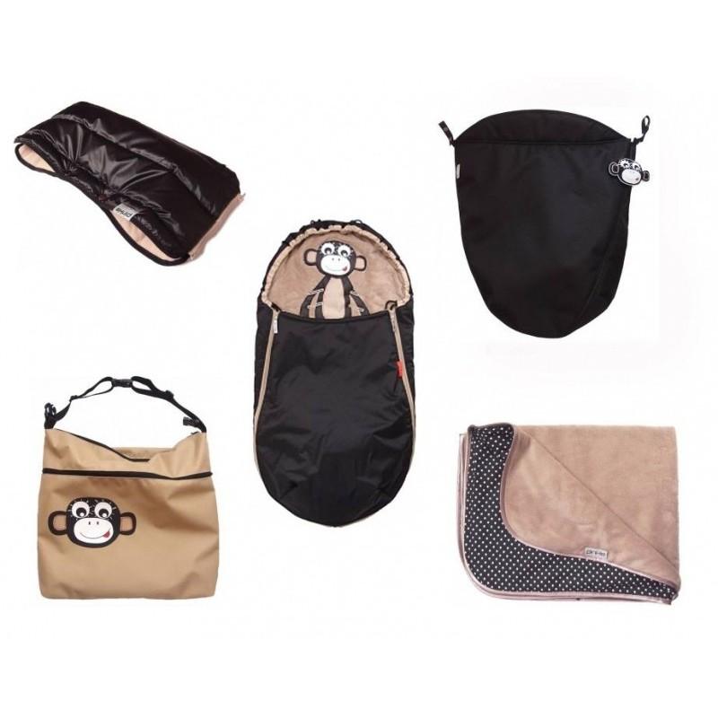 PINKIE taška na kočárek béžová OPICE