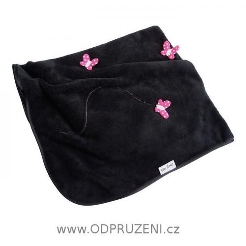 PINKIE deka do kočárku černá MOTÝL
