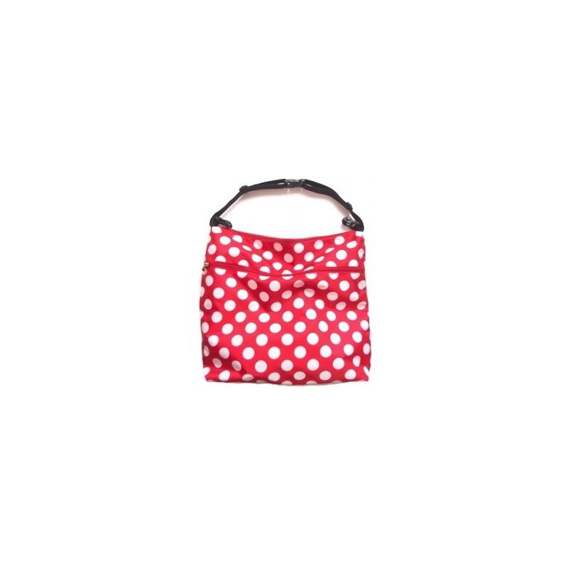 PINKIE červená taška s puntíky na kočárek