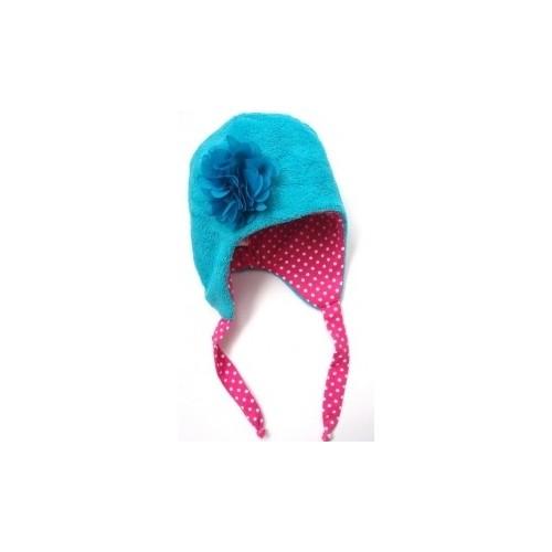 Zimní dívčí čepice tyrkysová