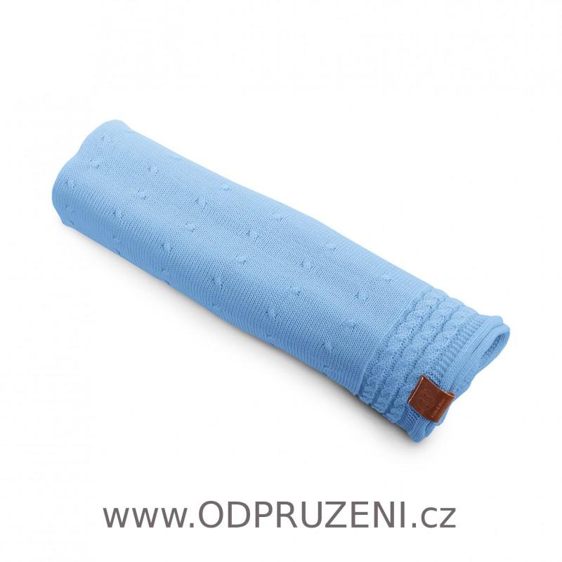 Deka letní pletená modrá