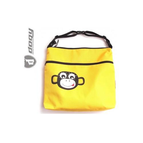 PINKIE taška na kočárek/vozík žlutá opička