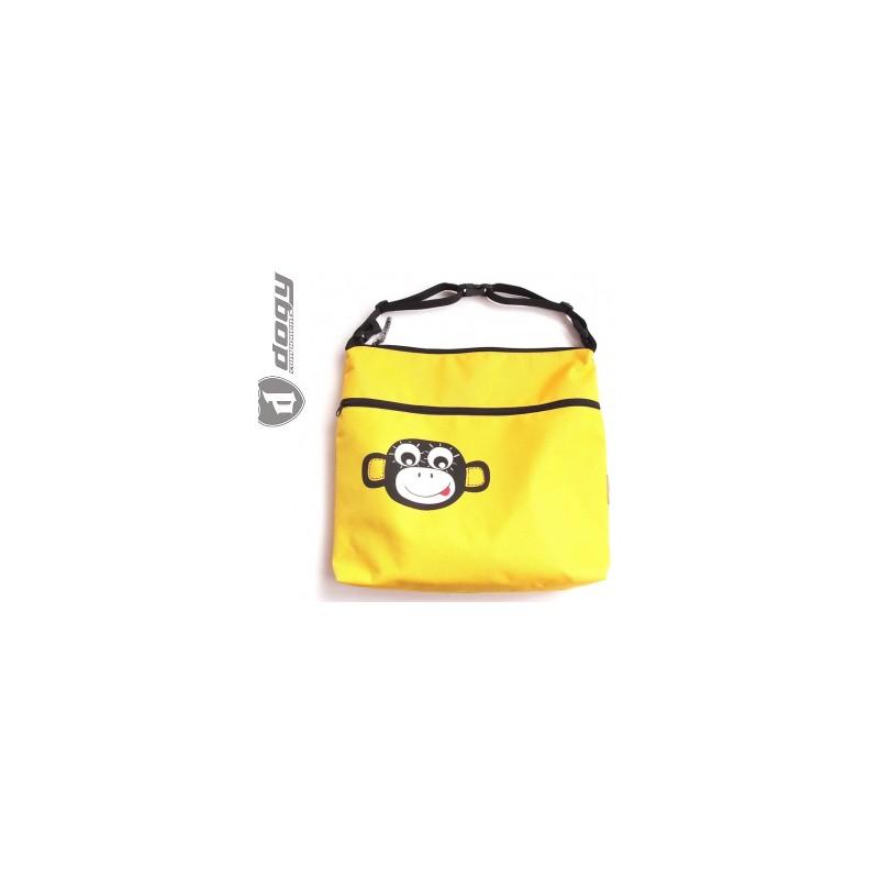 Taška na kočárek/vozík žlutá opička