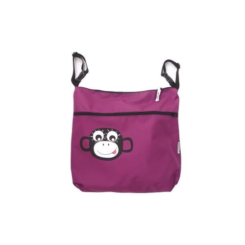 PINKIE taška na kočárek vozík fialová opička