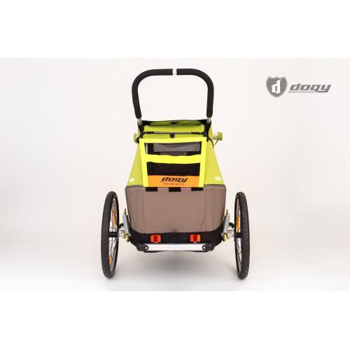 Žlutá větrací reflexní síťka na vozík CROOZER a XLC
