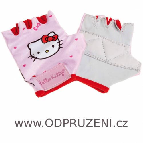 Dětské cyklo rukavice Hello Kitty