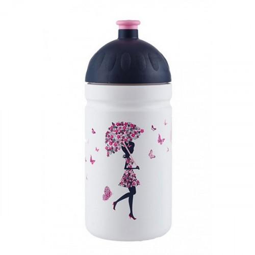 Zdravá cyklo lahev 0,5 l DÍVKA S DEŠTNÍKEM