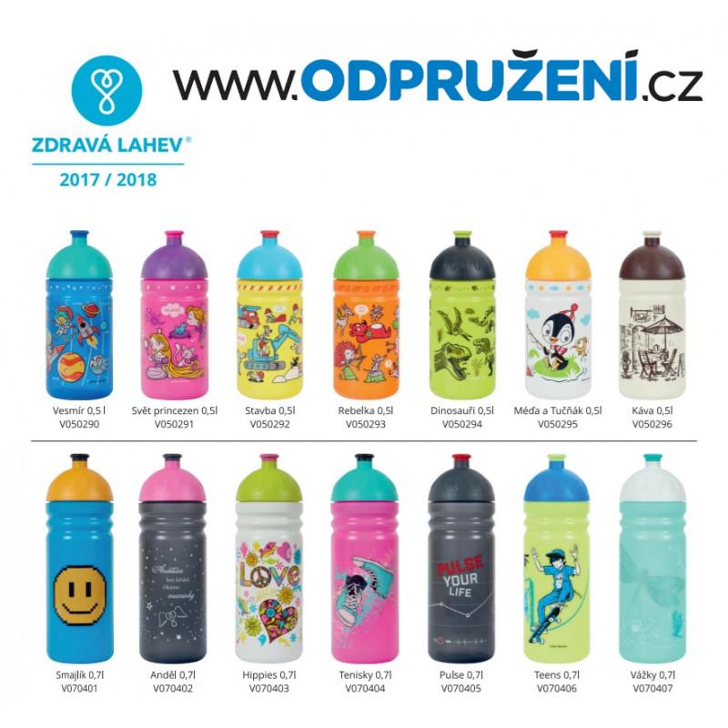 Zdravá cyklo lahev 0,7 l HIPPIES