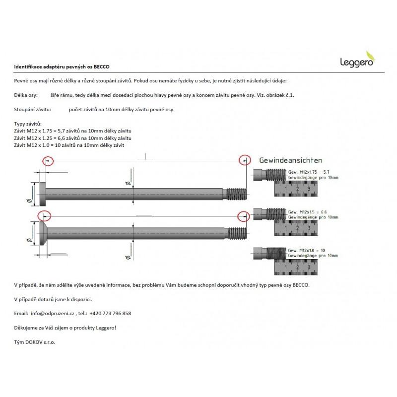 LEGGERO adaptér pevné osy MAXLE 12x142/174