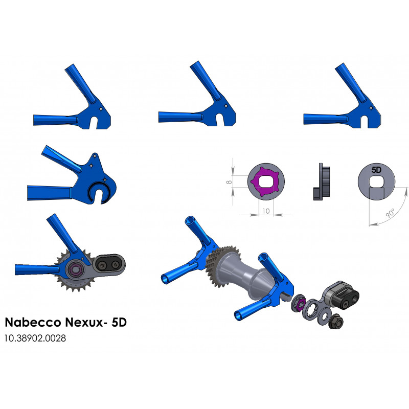 LEGGERO adaptér NEXUS-5D