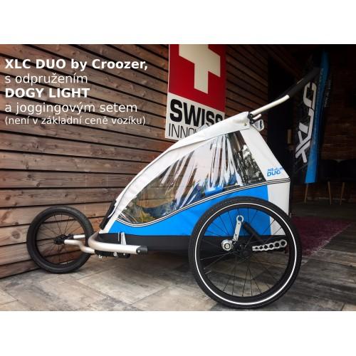 Odpružený vozík za kolo XLC by Croozer DUO blue 2018