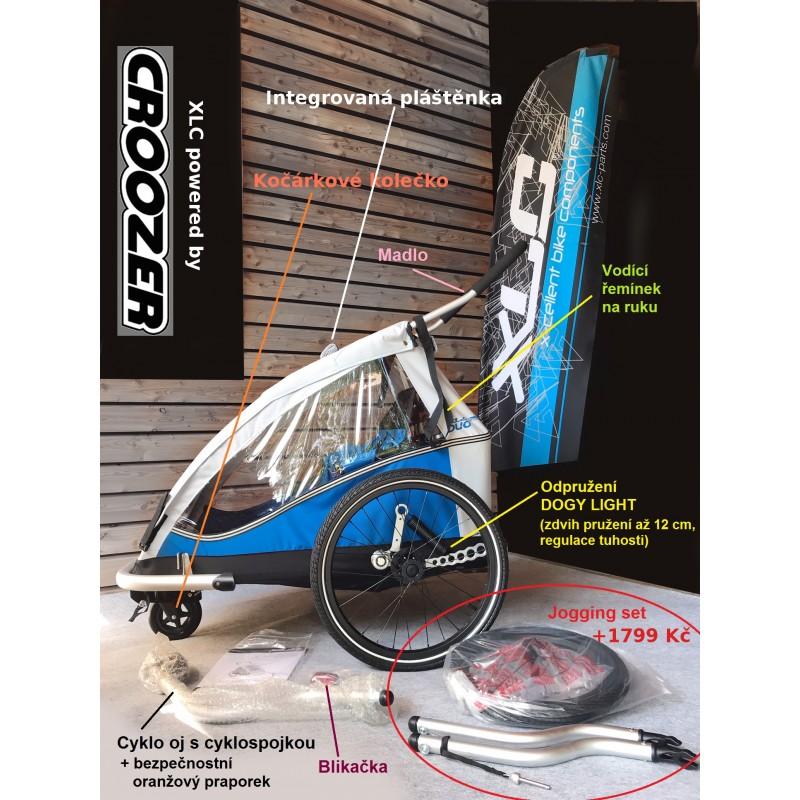 Odpružený vozík za kolo XLC by Croozer DUO Plus blue 2018