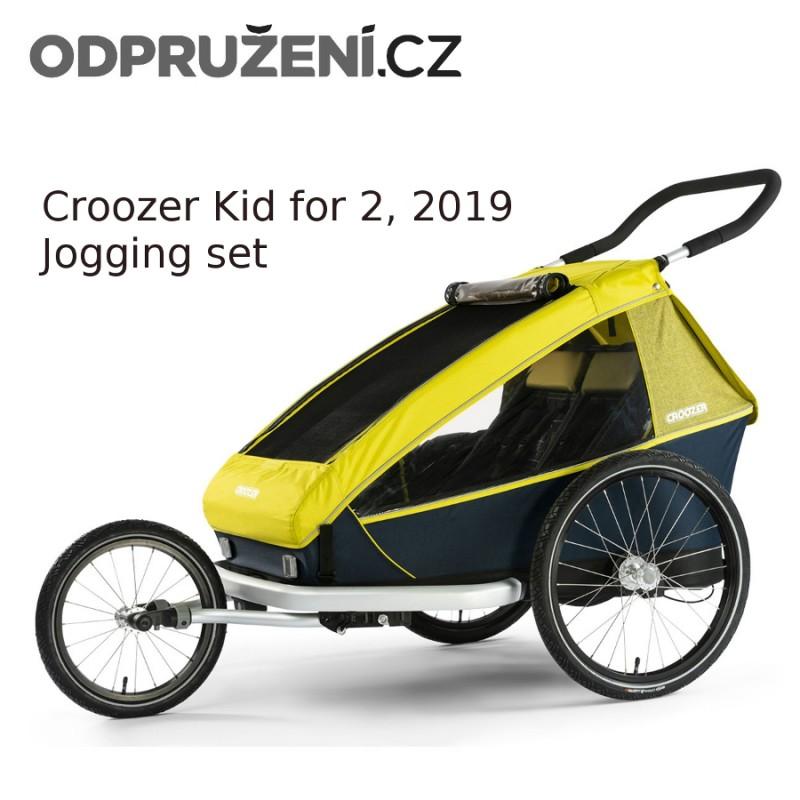 Cyklovozík CROOZER Kid for 2 2019, běžecký set