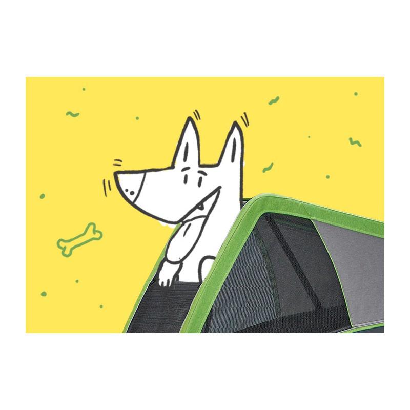 Cyklovozík CROOZER DOG L 2019, větrací okénko