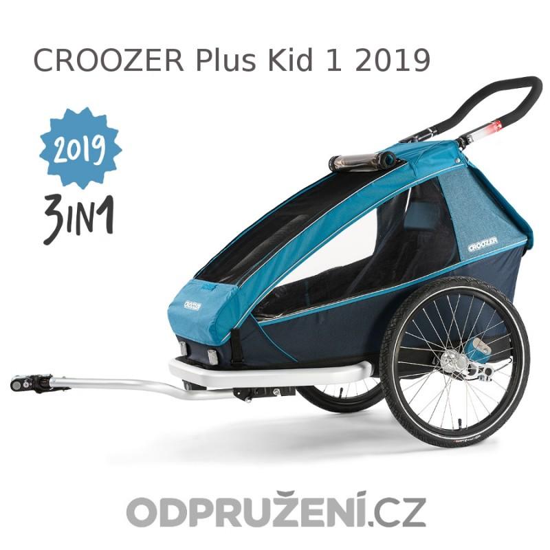 Cyklovozík CROOZER Kid PLUS for 1 2019, modrý + DÁREK