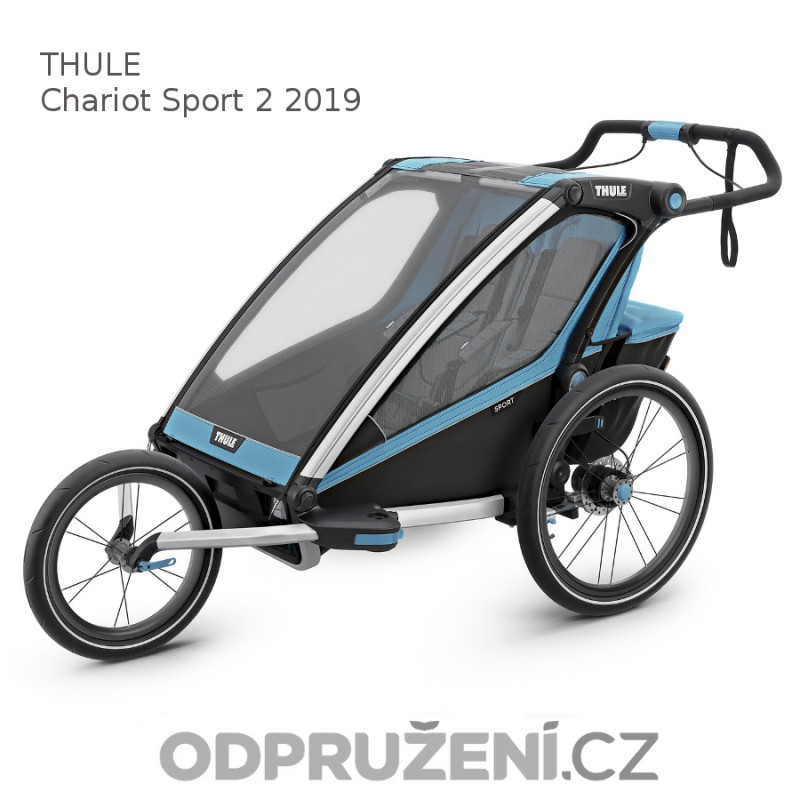 Thule Chariot Sport 2 Blue 2019 + jogger set