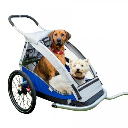 Odpružený vozík za kolo pro psy XLC by Croozer blue