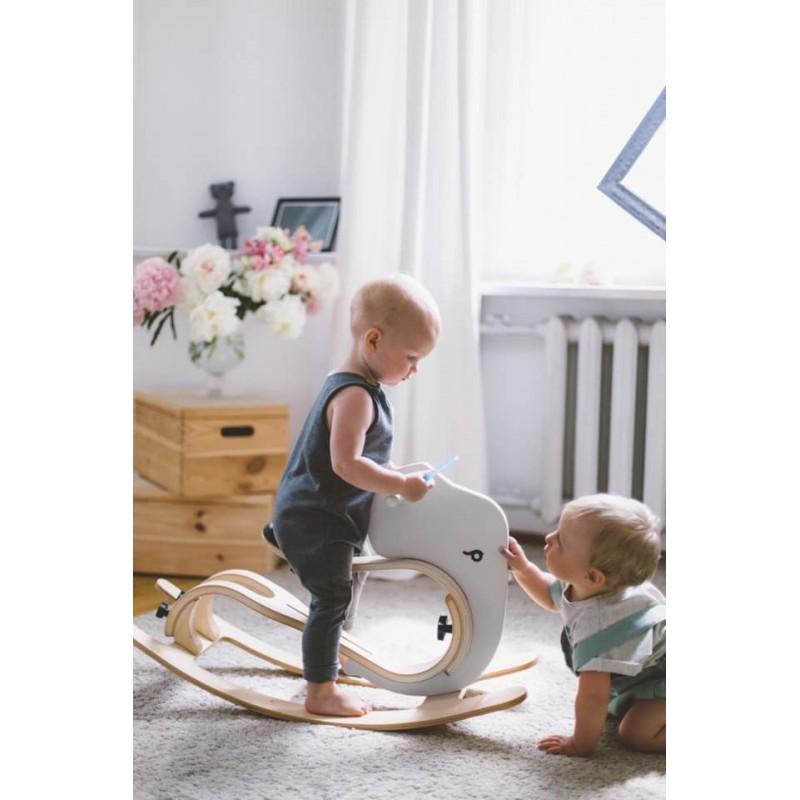 Leg&Go Dětská dřevěná houpačka Slon