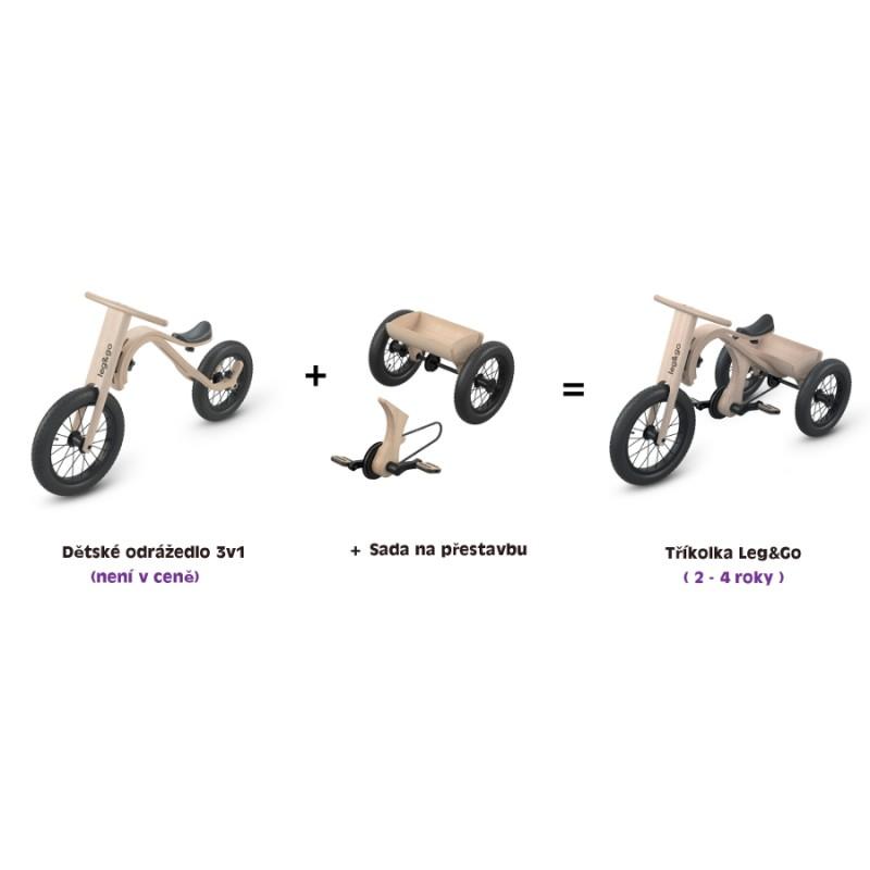 Dětská tříkolka Leg&Go - sada na přestavbu