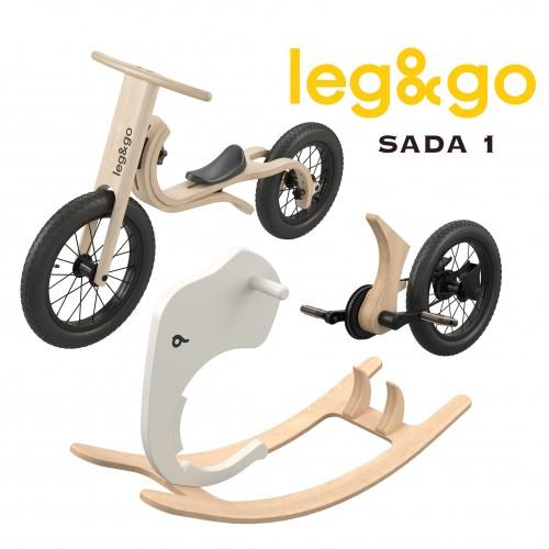 Dětské odrážedlo, kolo a houpačka Leg&go