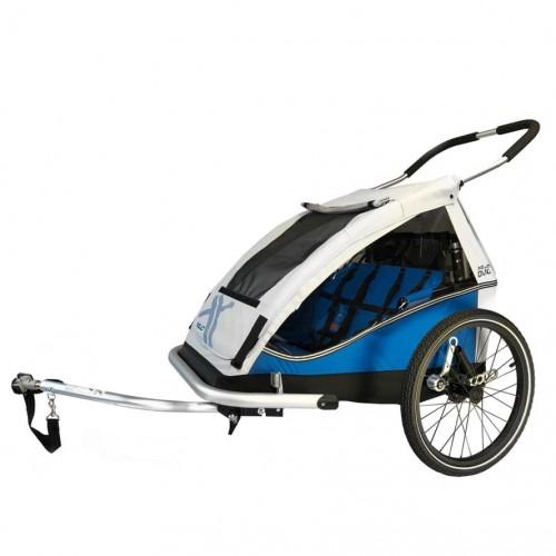 Odpružený vozík za kolo XLC DUO by CROOZER blue 2021