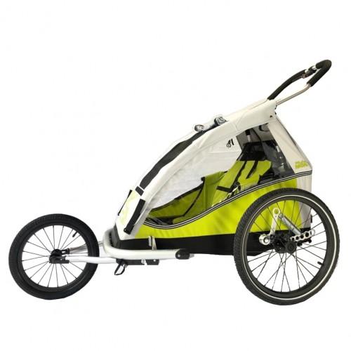 Odpružený dětský vozík XLC MONO by CROOZER komplet green