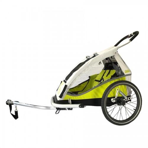 Odpružený vozík za kolo XLC MONO by CROOZER green