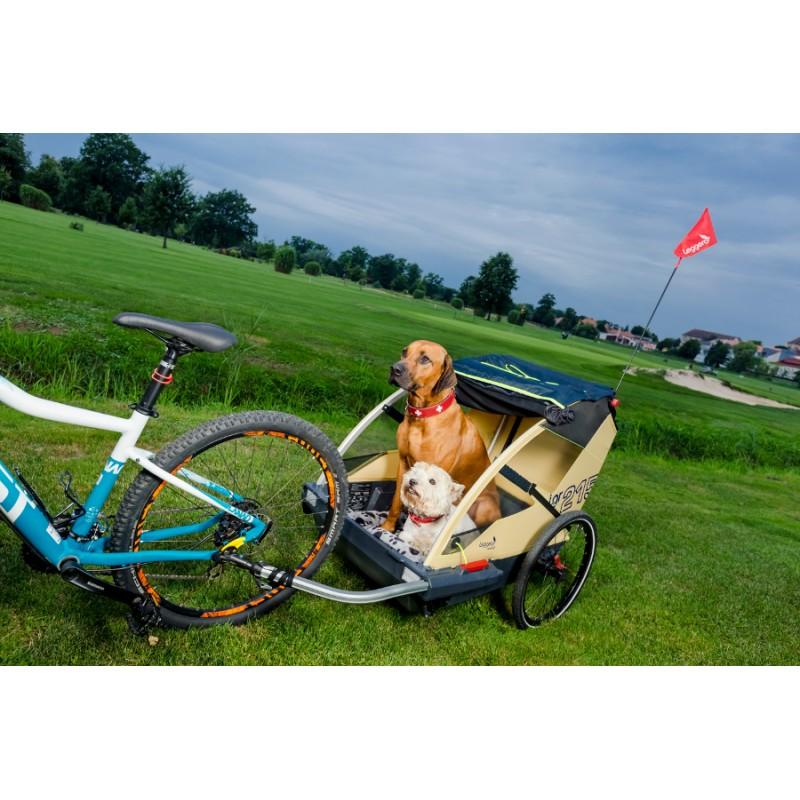 Švýcarský odpružený vozík za kolo pro psa