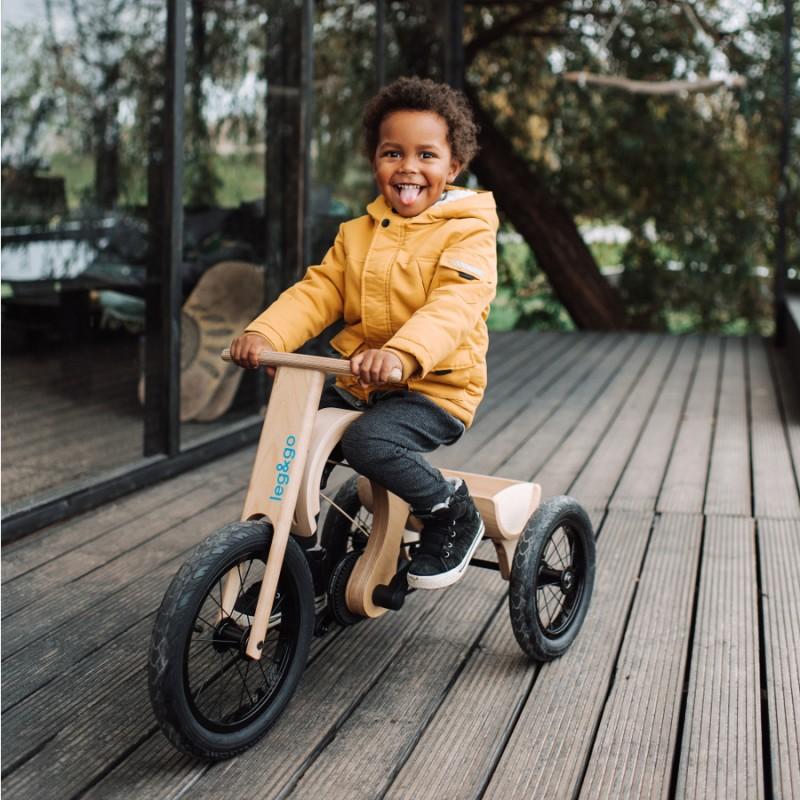 Leg&Go Dětská dřevěná tříkolka