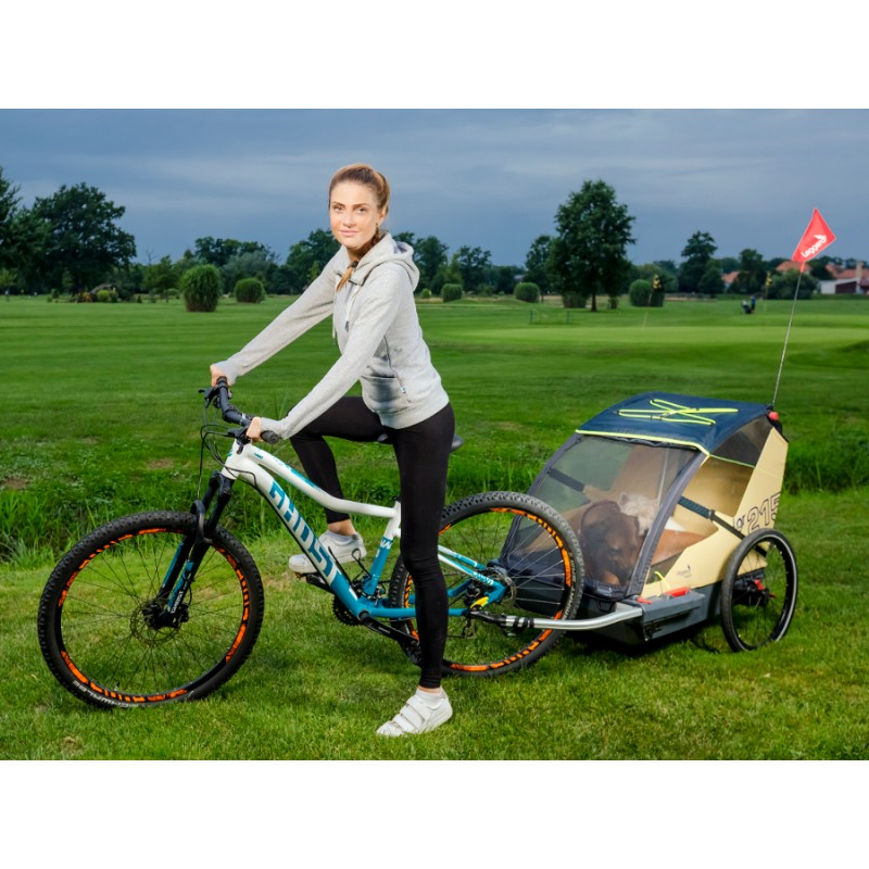 Leggero Vento odpružený vozík za kolo pro psa