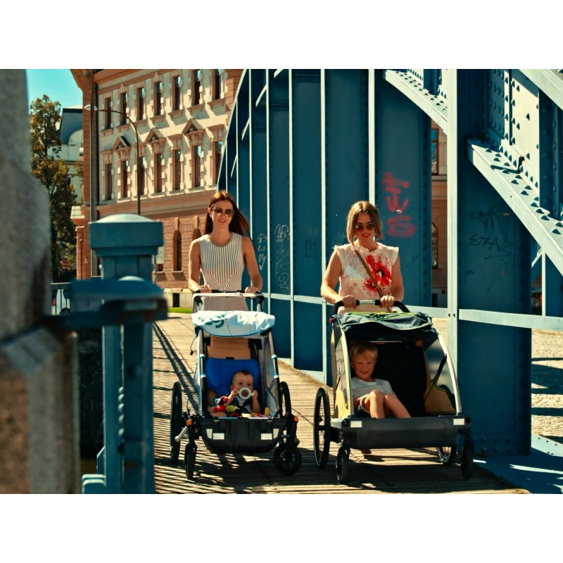 Švýcarský vozík za kolo Leggero Vento R Family