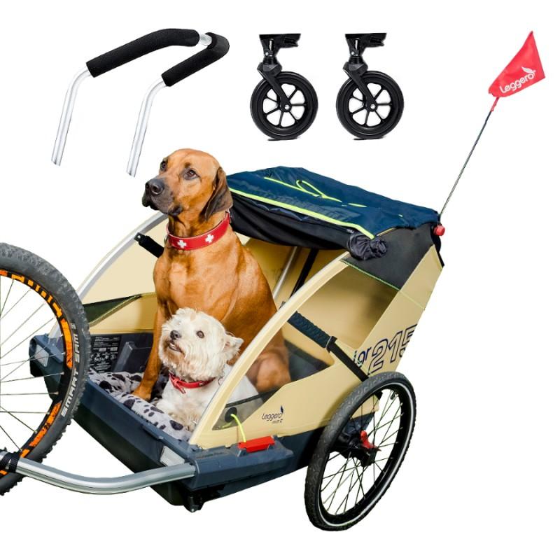 Švýcarský vozík za kolo pro psa Leggero Vento Family