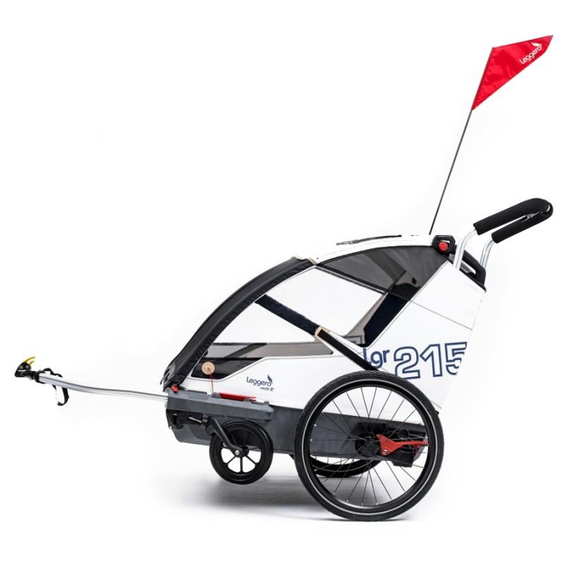 Bílý vozík za kolo Leggero Vento Family