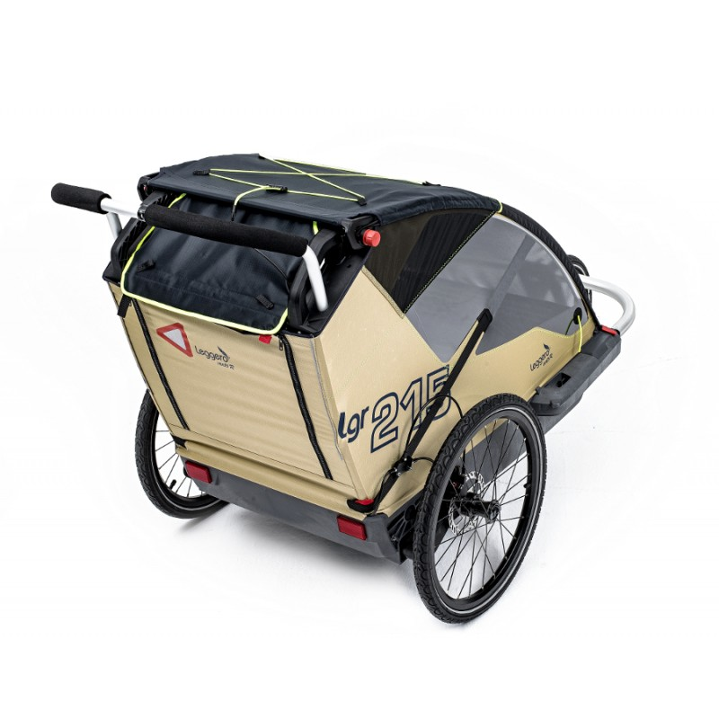 Béžový vozík za kolo pro psa Leggero Vento Family