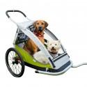 Odpružený vozík za kolo pro psy XLC green