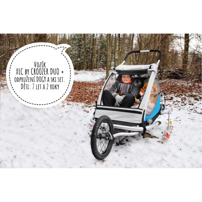 Vozík za kolo pro dvě děti XLC by Croozer DUO