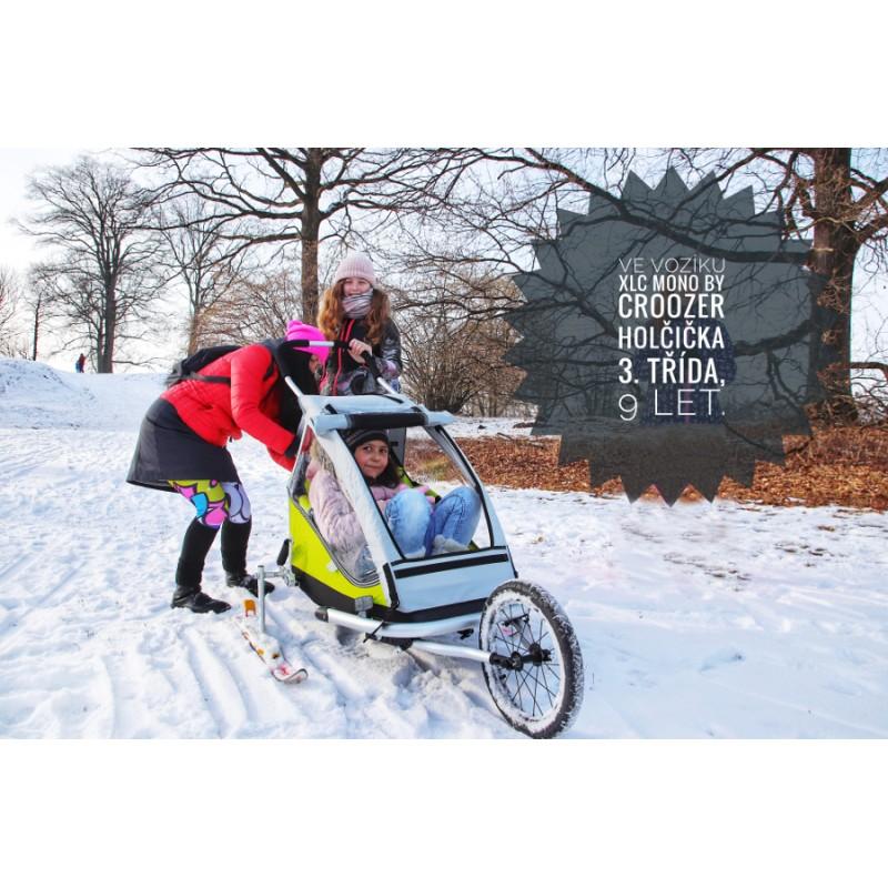 Vozík za kolo XLC Mono green pro velké děti