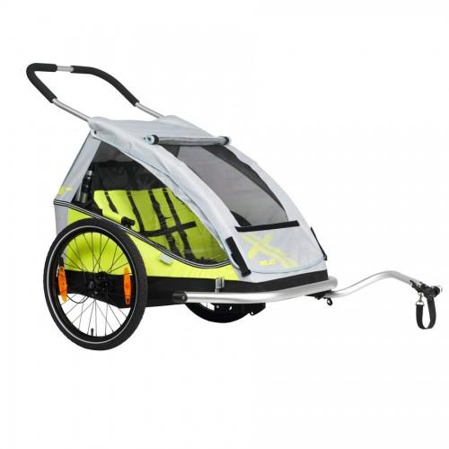 Odpružený vozík za kolo XLC  DUO by CROOZER green 2019