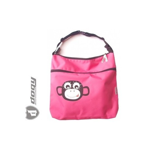 PINKIE taška na kočárek vozík růžová opička