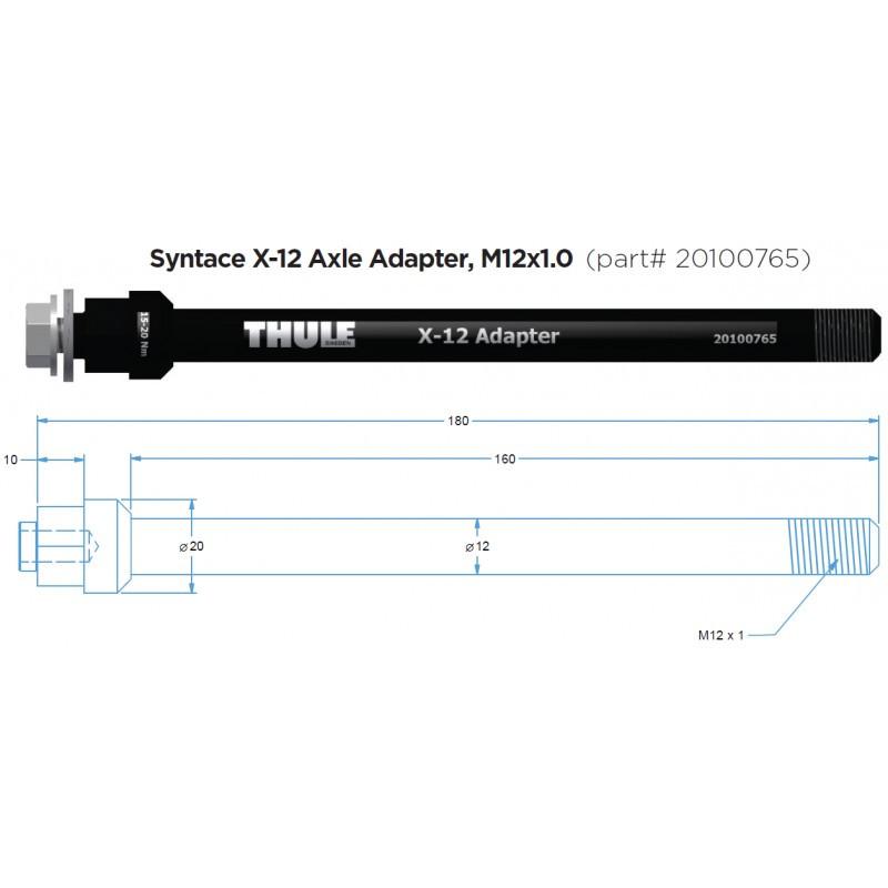 Adaptér pevné osy THULE Syntace X-12