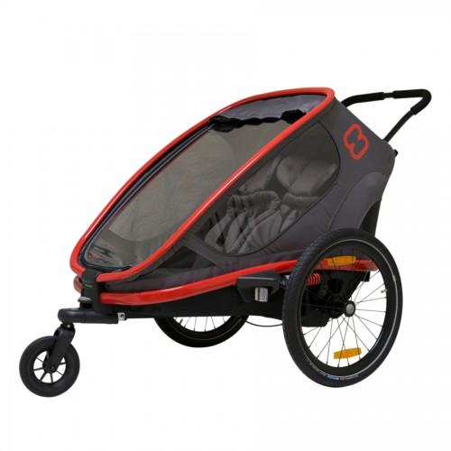 Hamax Outback 2v1 Grey-Red 2020