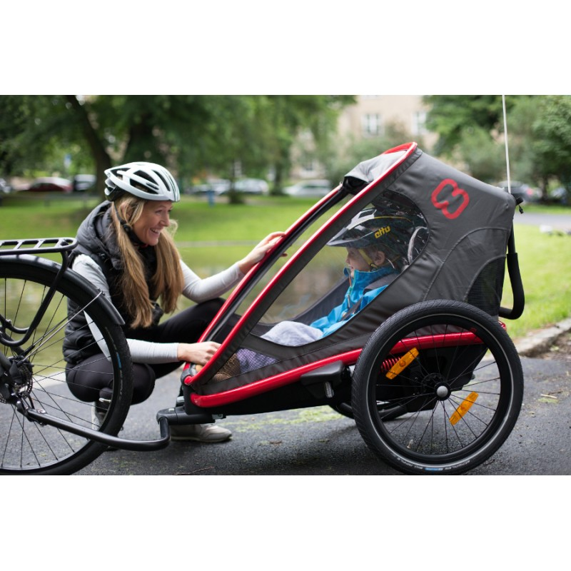 Vozík za kolo Hamax Outback ONE Grey-Red 2020