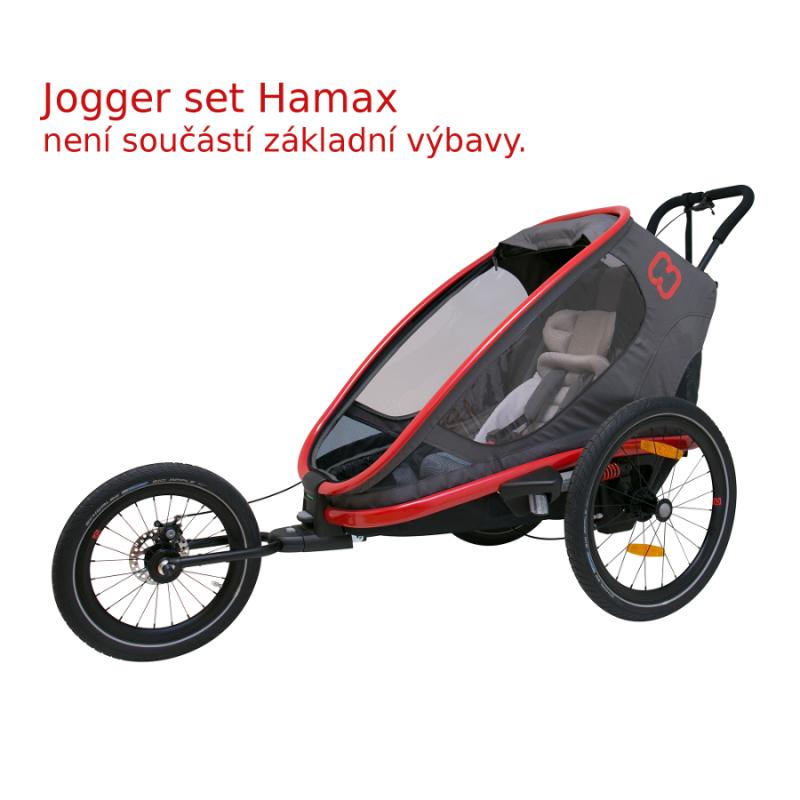 1-místný vozík za kolo Hamax Outback ONE Grey-Red 2020