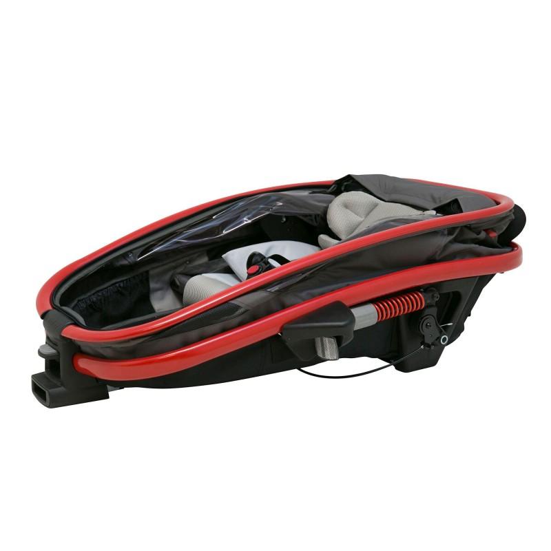 Složený vozík za kolo Hamax Outback ONE Grey-Red 2020