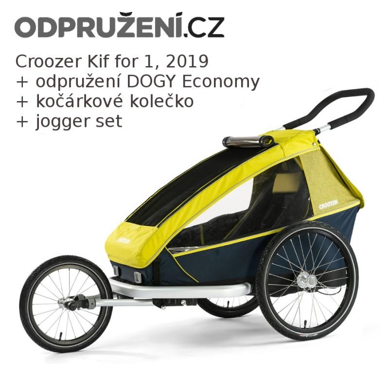 Odpružený vozík za kolo CROOZER Kid for 1 + odpružení DOGY