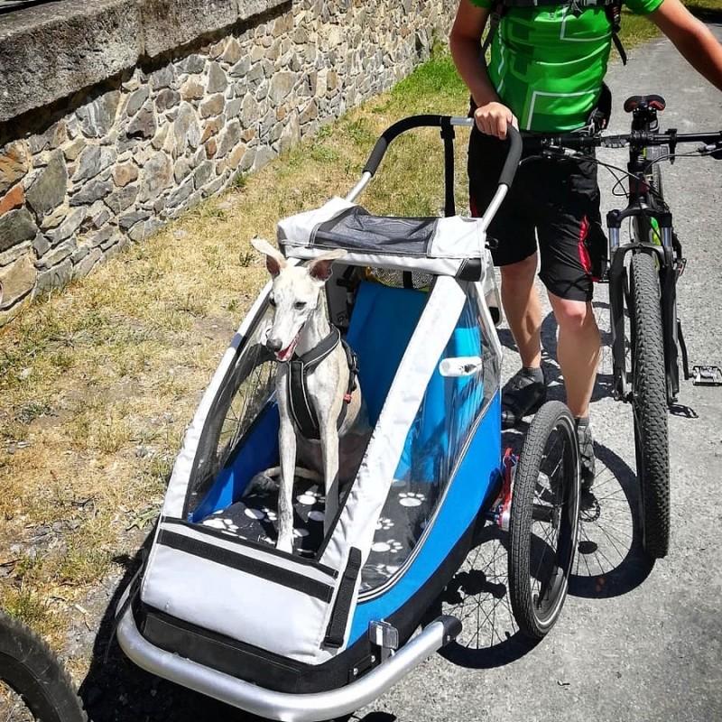 Odpružený vozík za kolo pro psy XLC by CROOZER green