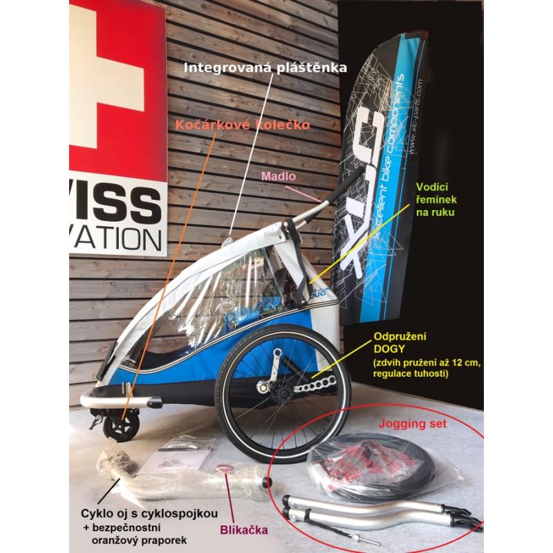 Odpružený vozík za kolo XLC by CROOZER Obsah