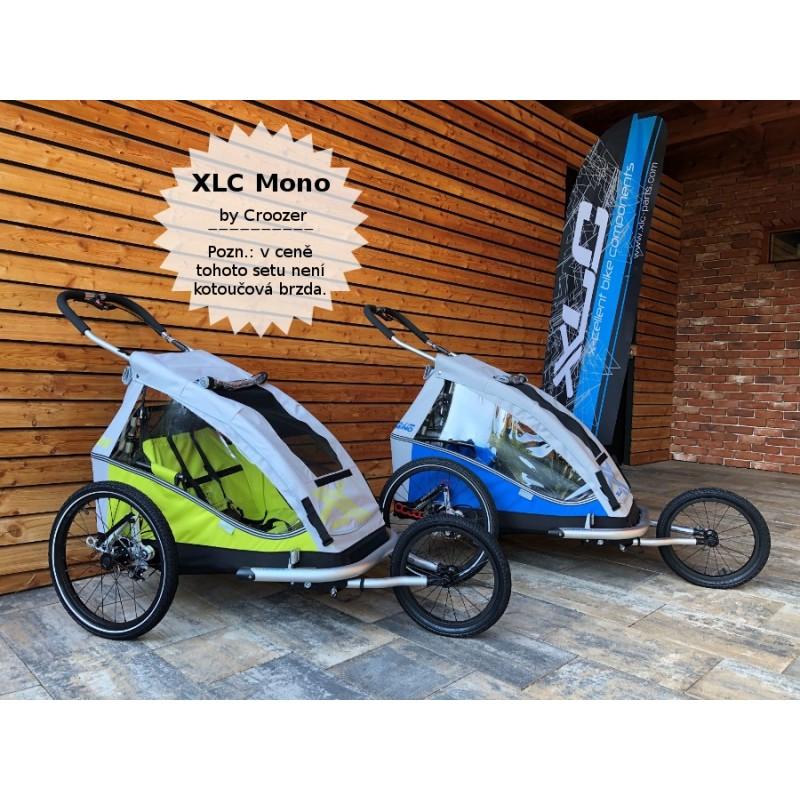 Odpružený vozík za kolo XLC by CROOZER green Komlet